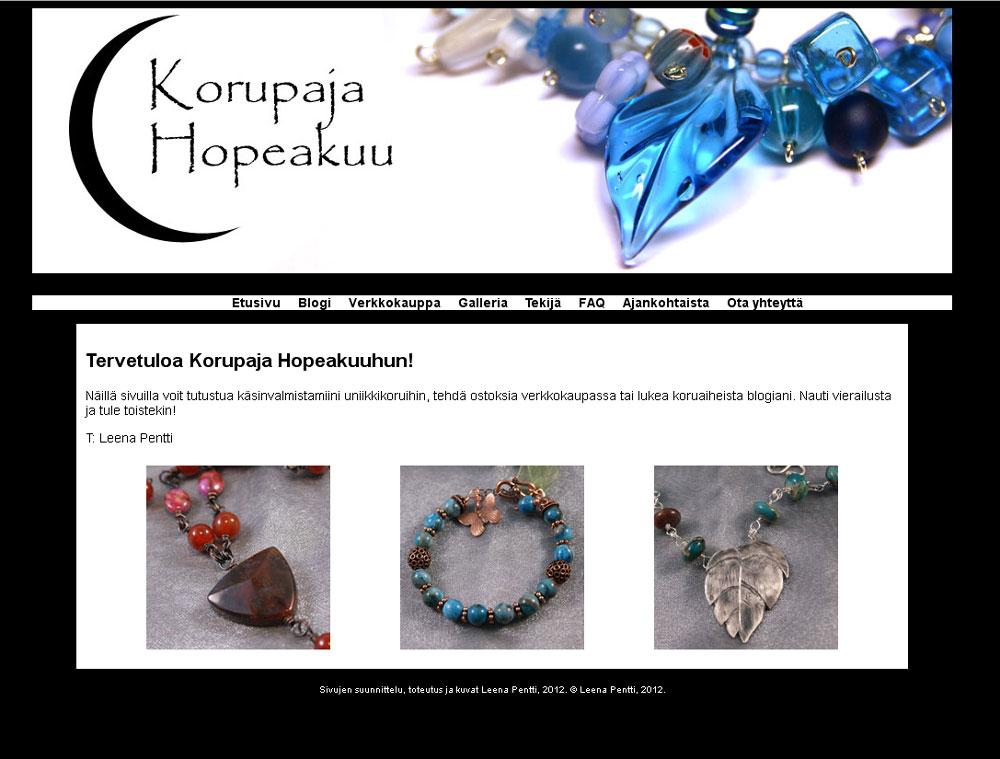 Hopeakuu.fi - etusivu